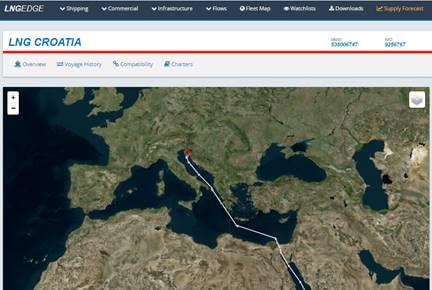 LNG edge Croatia map img